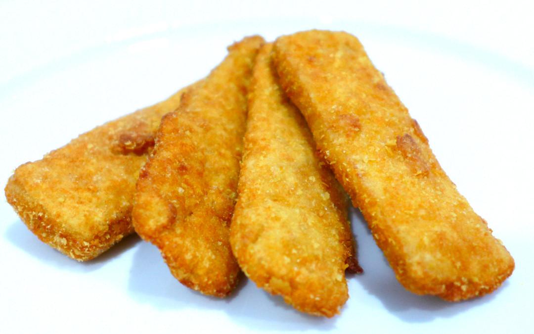Bastoncini di tofu impanato